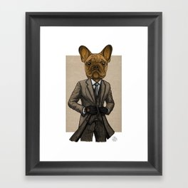 Much Handsome, Dapper Doge Framed Art Print
