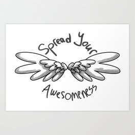 Spread the awesome Art Print