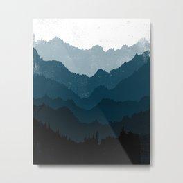 Mists No. 6 - Ombre Blue Ridge Mountains Art Print  Metal Print