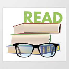 Read Books to Be More Interesting Art Print
