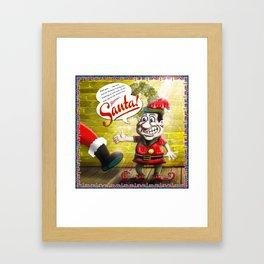 Here's Santa! Framed Art Print