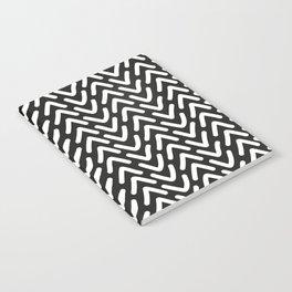 chevron white on black Notebook