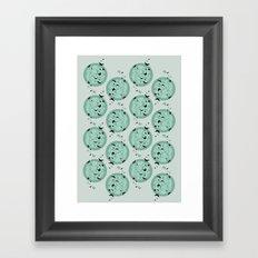 Butterfly pattern mint Framed Art Print