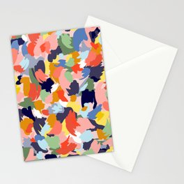 Bright Paint Blobs Stationery Cards