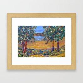Impressionism landscape, modern impressionism, landscape art Framed Art Print