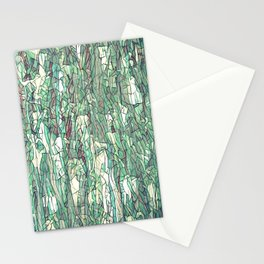 Abstract green Stationery Cards