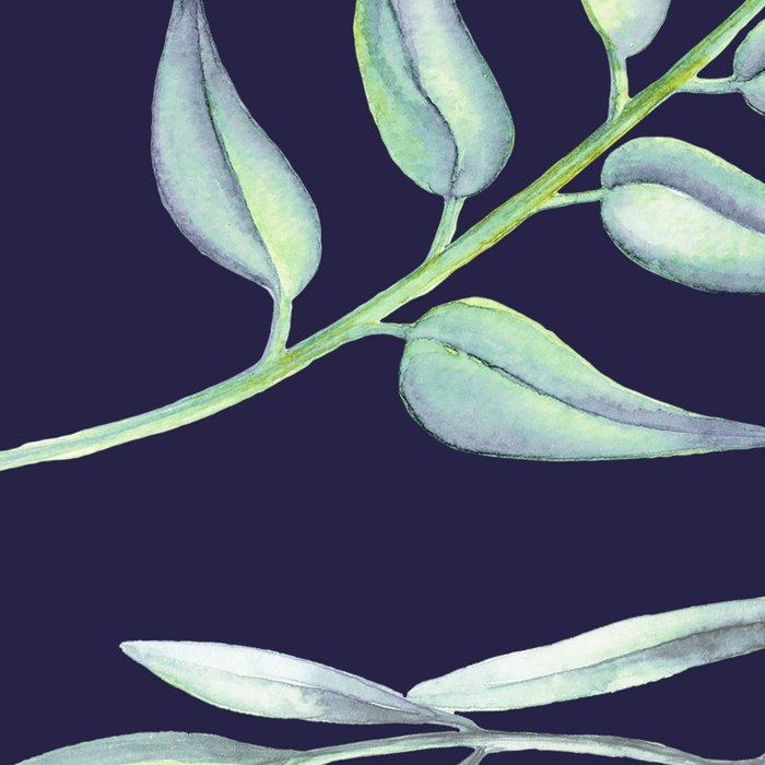 Floating Leaves Blue 2 #society6 #buyart Leggings