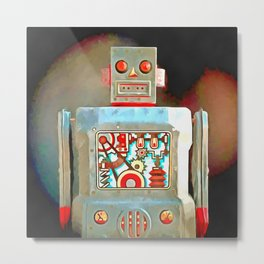 Robot Pop Art R-1 Metal Print