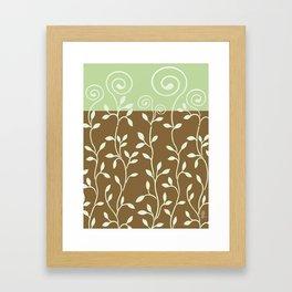 VINERI | brown sage Framed Art Print