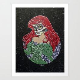 Ariel Sugar Skull Art Print