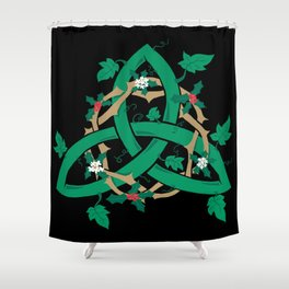 The Holly And The Ivy Shower Curtain