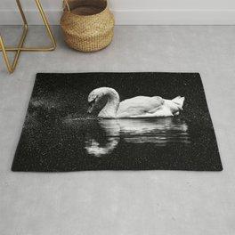 Milky way Swan composite Rug