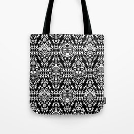 Ethnic African Tribal pattern on black Tote Bag