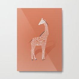 Animal Kingdom: Giraffe I Metal Print