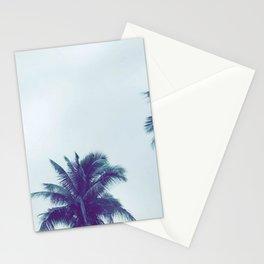 Fijian palm tree canopy in a moody sky Stationery Cards