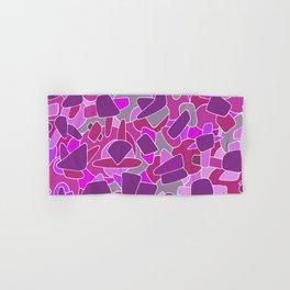 purple shapes Hand & Bath Towel