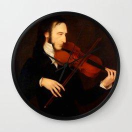 Niccolò Paganini by Daniel Maclise (1831) Wall Clock