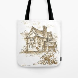 Country house. Sketch. Tote Bag
