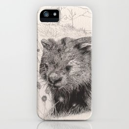 Path to wombat pool iPhone Case
