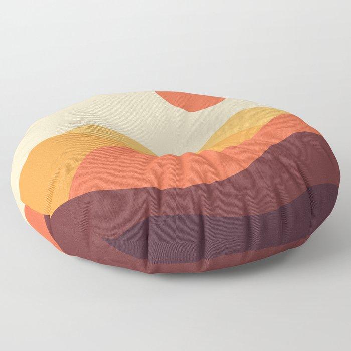 Geometric Landscape 21 Floor Pillow