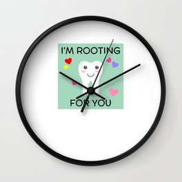 I'm Rooting For You Wall Clock