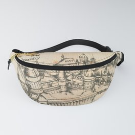 Potter school of witchcraft and wizardry HP sketch Fanny Pack