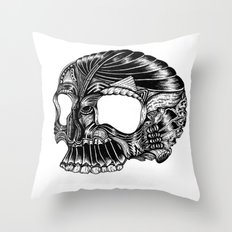 Skull - I Throw Pillow