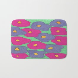 Poppies in Bright Color Bath Mat