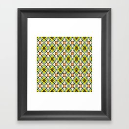 Green X O Framed Art Print