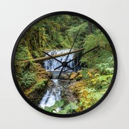Dutchman Falls - Columbia River Gorge Oregon Wall Clock