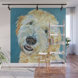 Stanley the Goldendoodle Dog Portrait Wall Mural