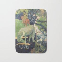 The White Horse by Paul Gauguin Bath Mat