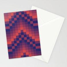 Pixelated Chevron Stationery Cards
