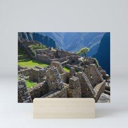 Machu Picchu Beautiful Stone Construction Mini Art Print