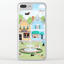 Dog Lovers Lane Clear iPhone Case