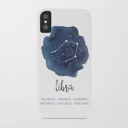 Libra Constellation Zodiac Print iPhone Case
