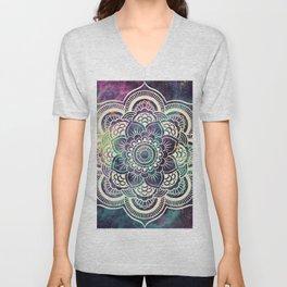 Galaxy Mandala : Deep Pastels Unisex V-Neck