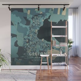 Geelong, Australia - Cream Blue Wall Mural