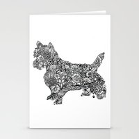 terrier Stationery Cards featuring Terrier by PawPrints