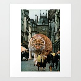 Madame Boucher had a sneaking suspicion they were being watched. Art Print
