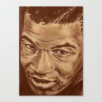 mike wrobel Canvas Prints featuring mike by noblackcolor