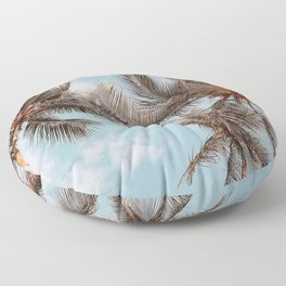 palm trees xxi Floor Pillow