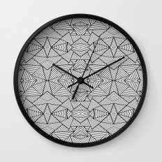 Abstract Mirror Black on White Wall Clock