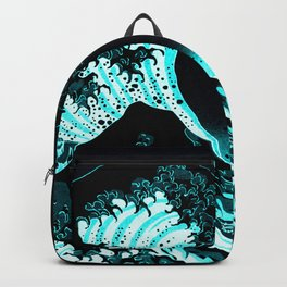 The Great Wave : Dark Teal Backpack