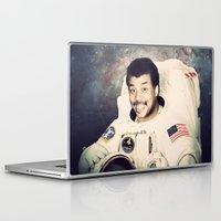 neil gaiman Laptop & iPad Skins featuring Neil deGrasse Tyson - Astronaut in Space by Nicholas Redfunkovich