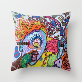 singing cyclops Throw Pillow