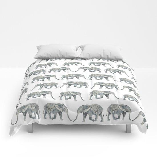Elephant nature safari tropical painting watercolor nature pattern  Comforters