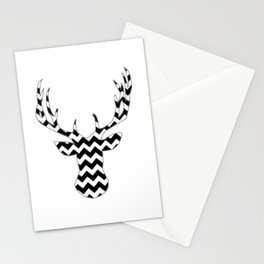 Zig Zag Modern Deer Head Stationery Cards
