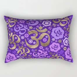 OM symbol pattern - purples and gold Rectangular Pillow