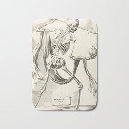 Vintage Skeleton Illustration Bath Mat